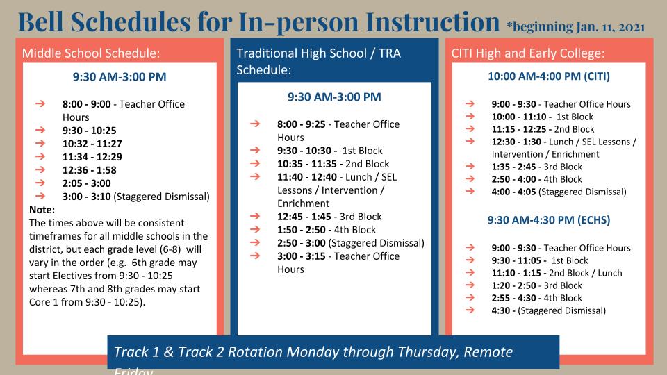 MS HS Schedule