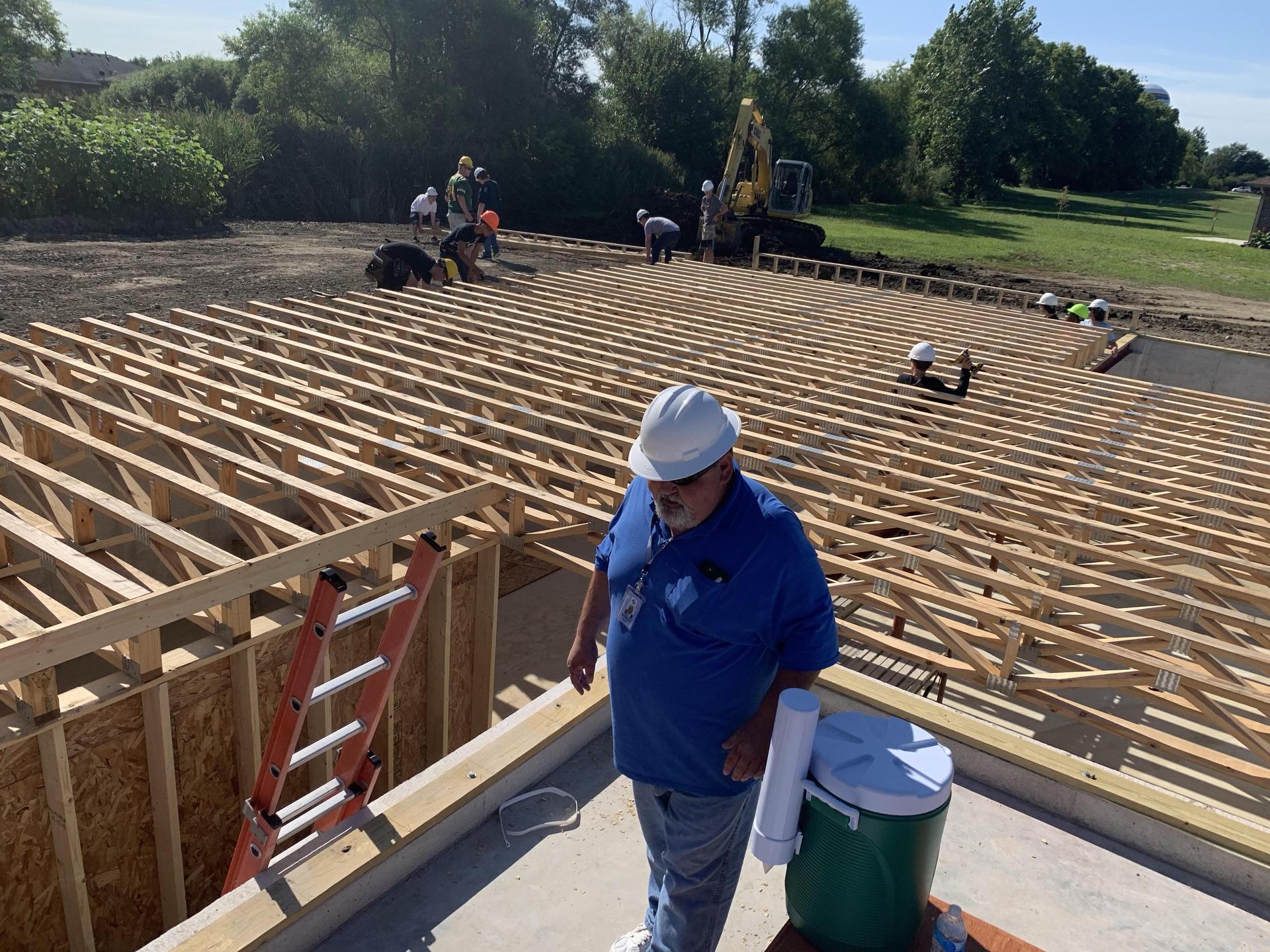 Floor truss install