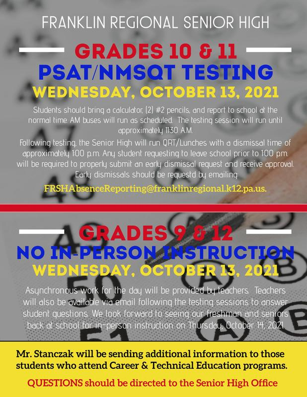 PSAT/NMSQT Info for October 13, 2021 Featured Photo