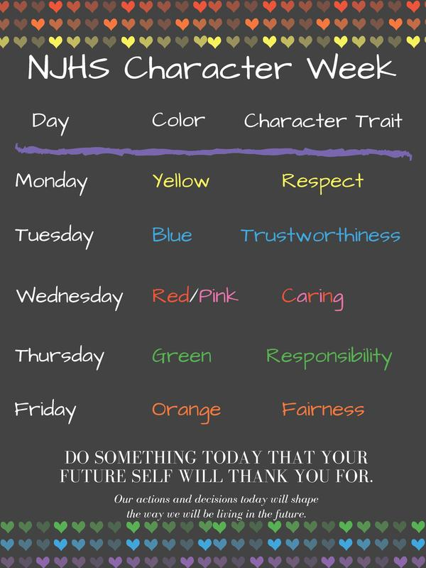 NJHS Character Week October 14th -  October 18th Featured Photo