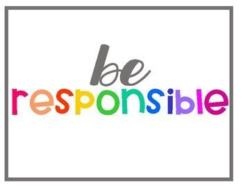 Be Responsible is our Round Up Trait of the Month Thumbnail Image