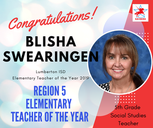 Blisha Swearingen Teacher of the Year