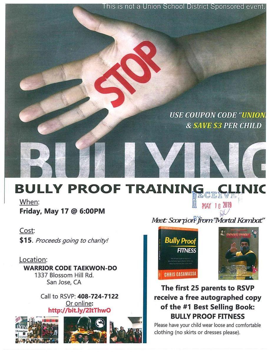 Bully Proof Training Clinic