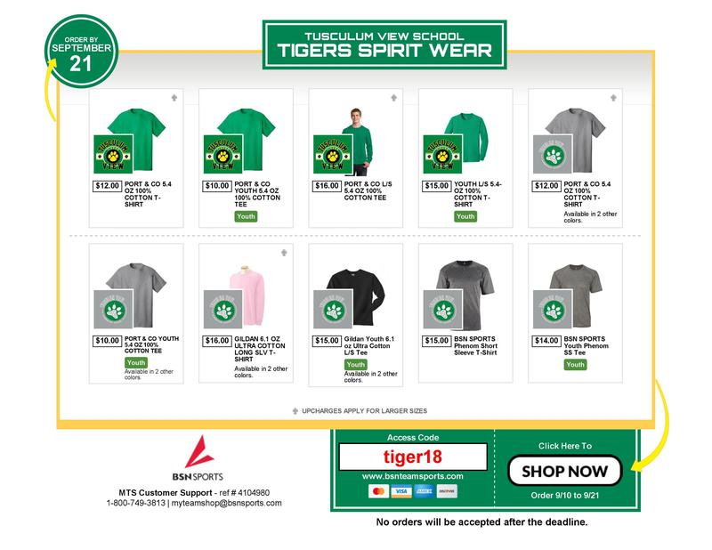 tv spirit wear
