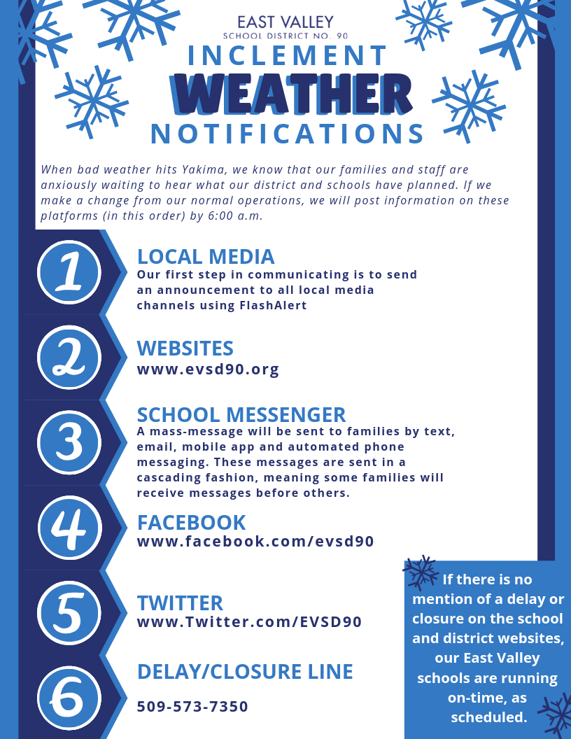 Download the pdf forms to the right of this page for our Inclement Weather Notifications information.