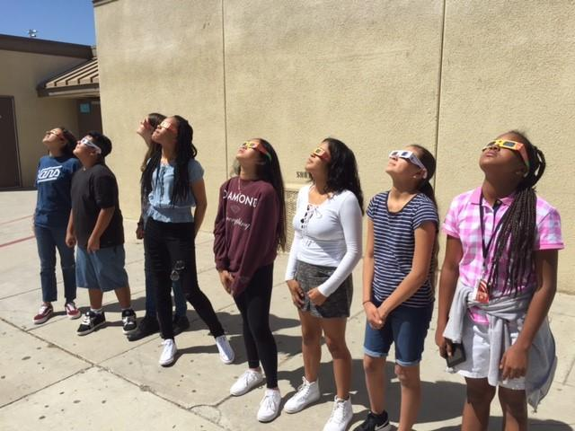 Students viewing Solar Eclipse