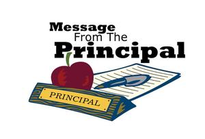 Message from the Principal notepad