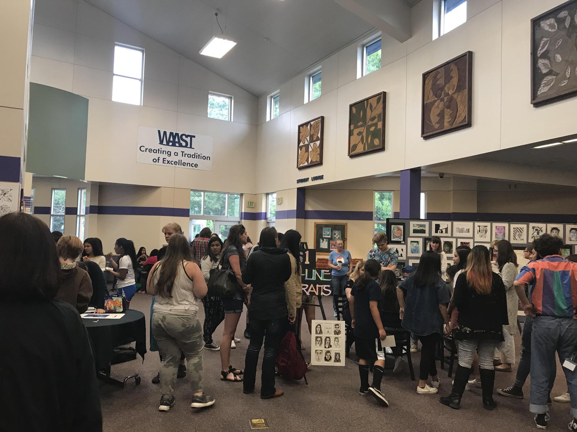 People visiting WACA Art Night