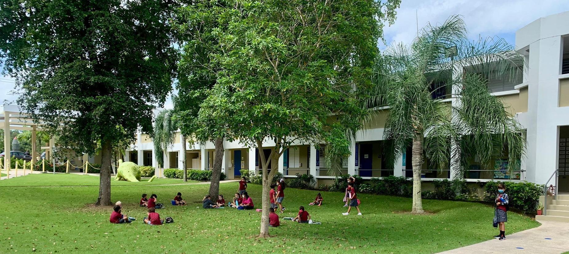 Elementary class outside