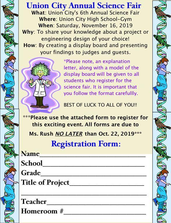 science fair announcement flyer