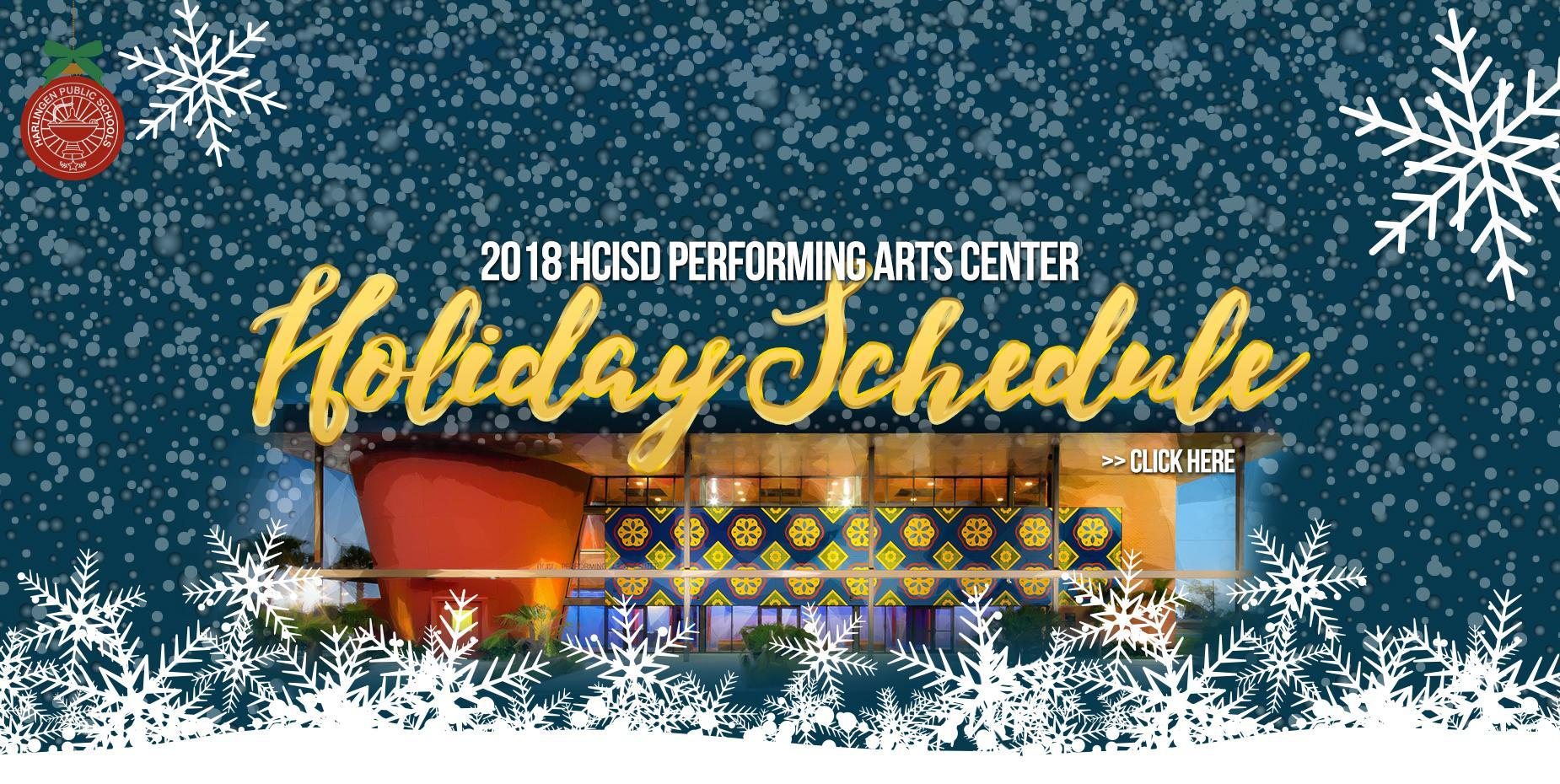 2018 PAC Holiday Schedule