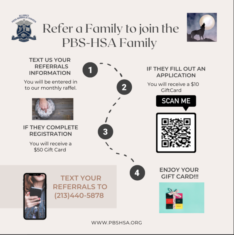 Refer a Family to Join the PBSHSA Family Thumbnail Image
