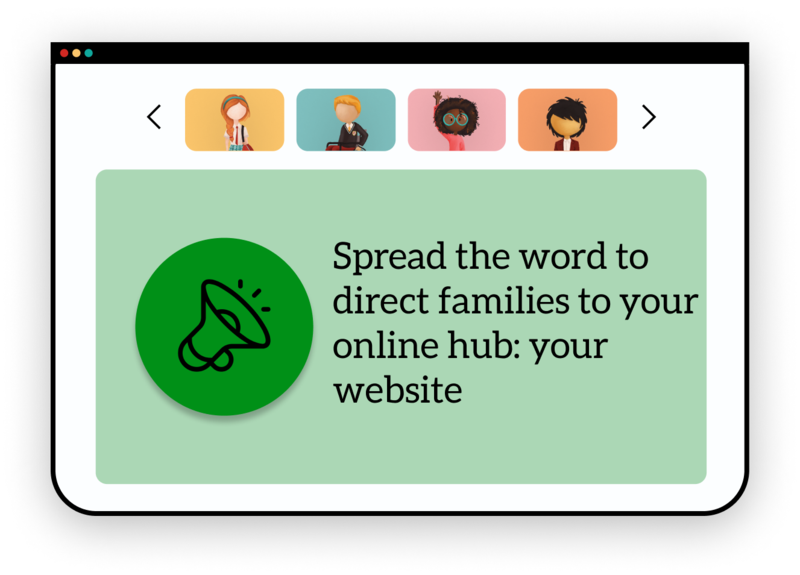 Back to School Preparation Series: Spread the word to direct families to your online hub: your website