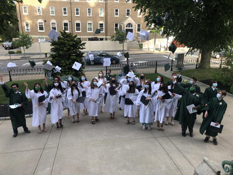 Grade 8 Students Celebrate In-Person Graduation Featured Photo