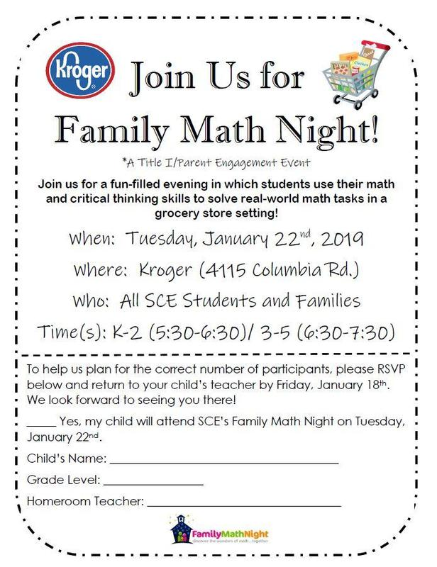 SCE Family Math Night Featured Photo
