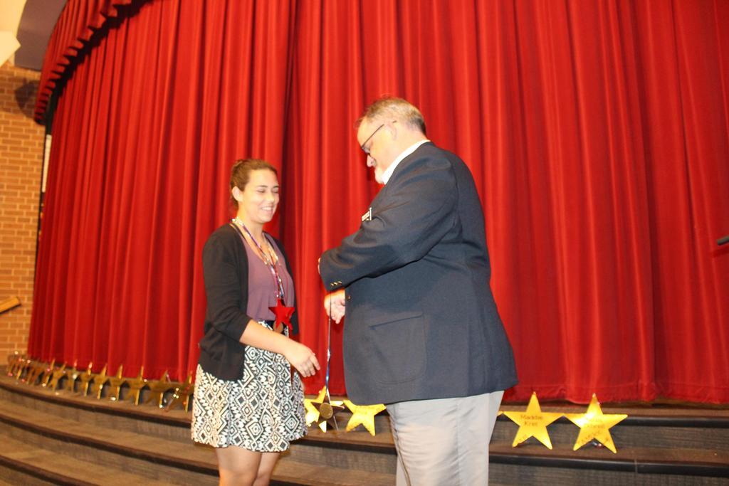 Elks National Foundation Scholarship $1,000 Recipient Brooke Barrett with Edison Bryant, Past Exalted Ruler, Texas Elks Lodge