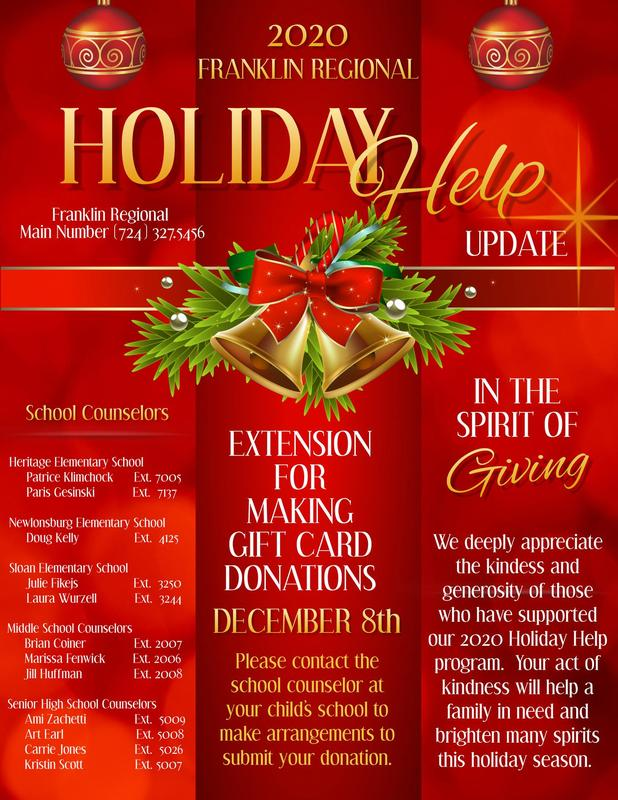 Donation Deadline Extension for Holiday Help 2020