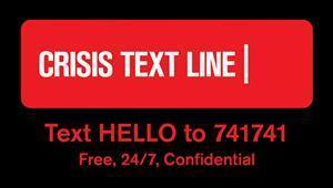 24/7 Crisis Text Line
