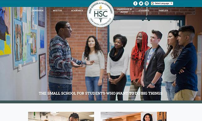 High School in the Community's website