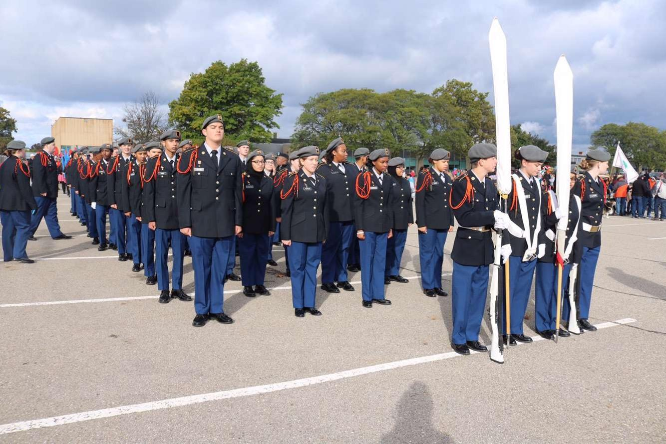 Cadets during homecoming parade