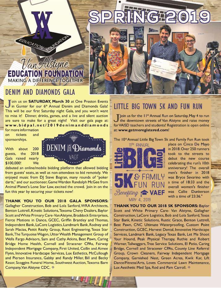 News / Blog – Education Foundation – Van Alstyne ISD