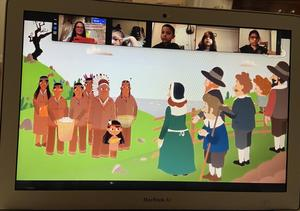 Thanksgiving history animation on zoom