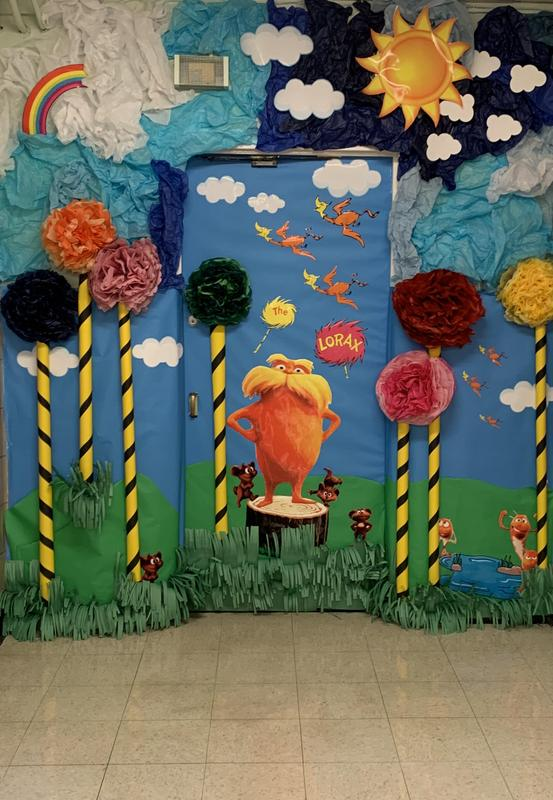 Lorax Themed Door Decorations