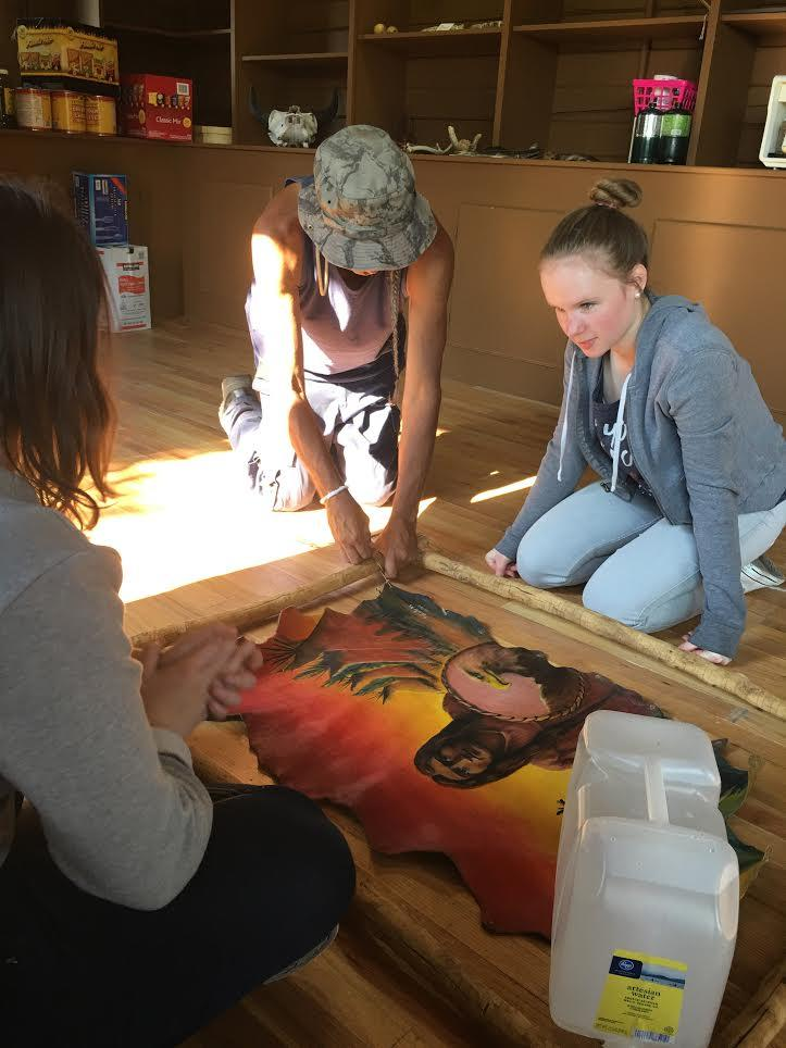 French Honor Society students volunteer at the Tall Bull Memorial at Daniels Park for the Labor Day Pow Wow. The Tall Bull Memorial welcomed the group of French students from our partner school last March, so our students are giving back by helping with set up, selling tickets, getting video footage, and cleaning up after the Pow Wow.