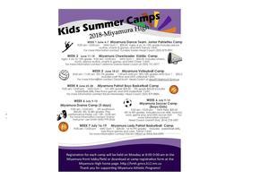 Hiroshi Miyramura High School Summer Camps 2018