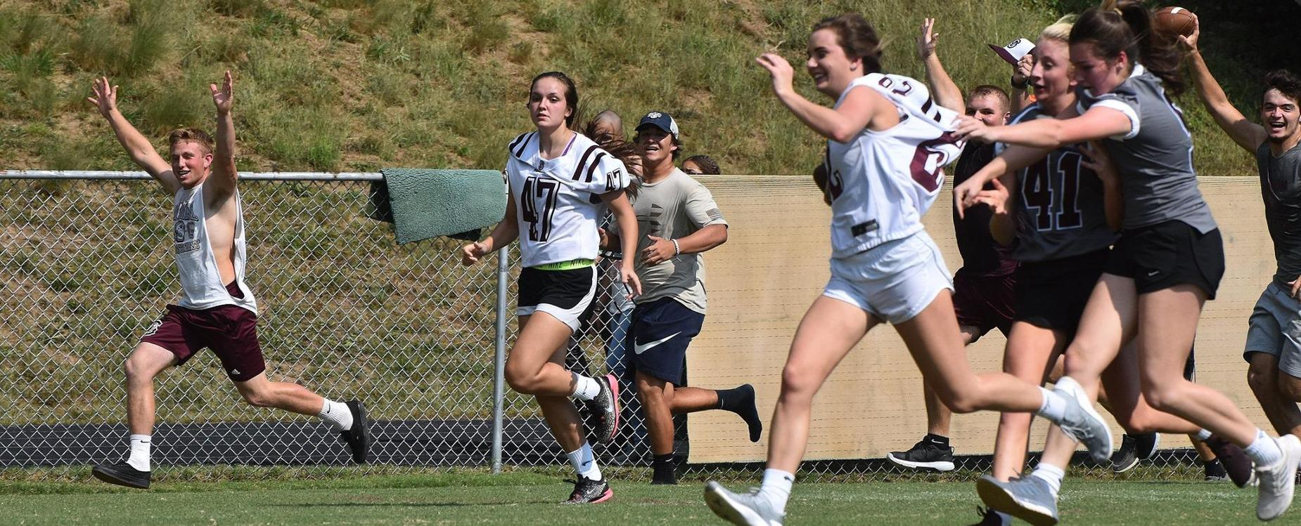 Seniors for the TD in Powderpuff action
