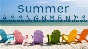 summer Assignments icon/link
