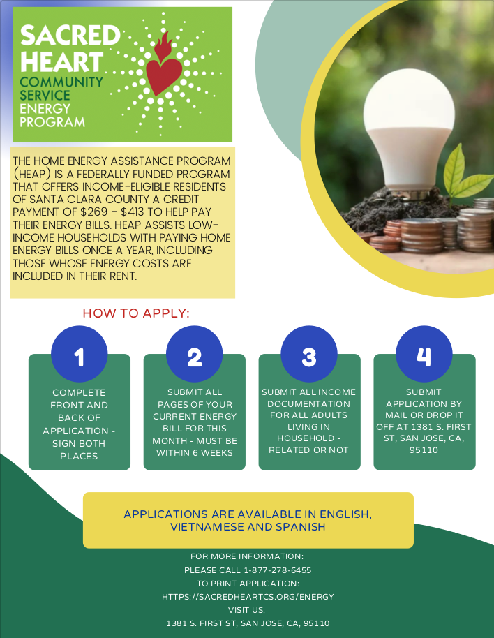 sacred heart low income home energy savings program