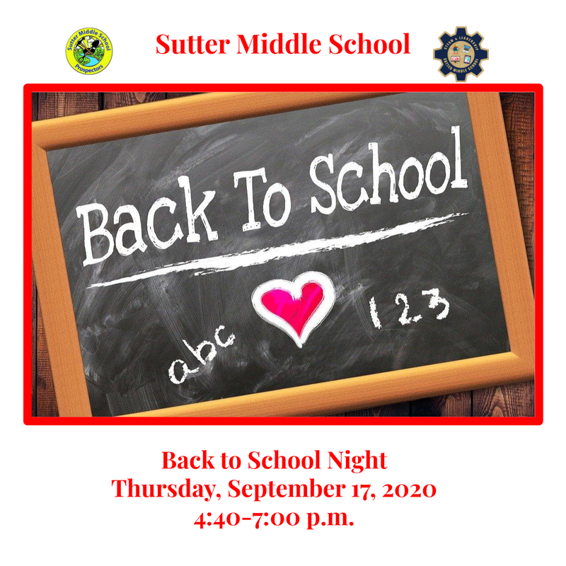 Back to School Night is this Thursday, September 17, 2020 from 4:40-7:00 p.m. Featured Photo