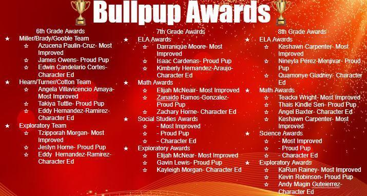 Bullpups Awards