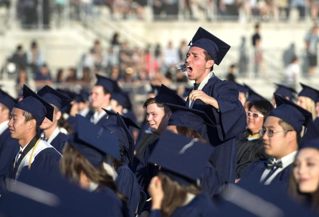 Students during the graduation ceremony