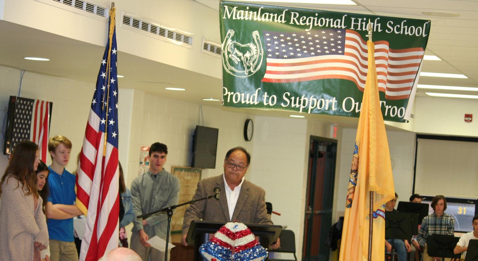 Northfield mayor Earland Chau speaks