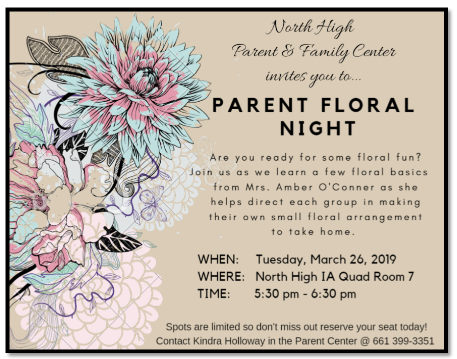 Parent Floral Night
