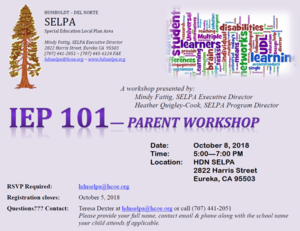 Flyer for SELPA meeting