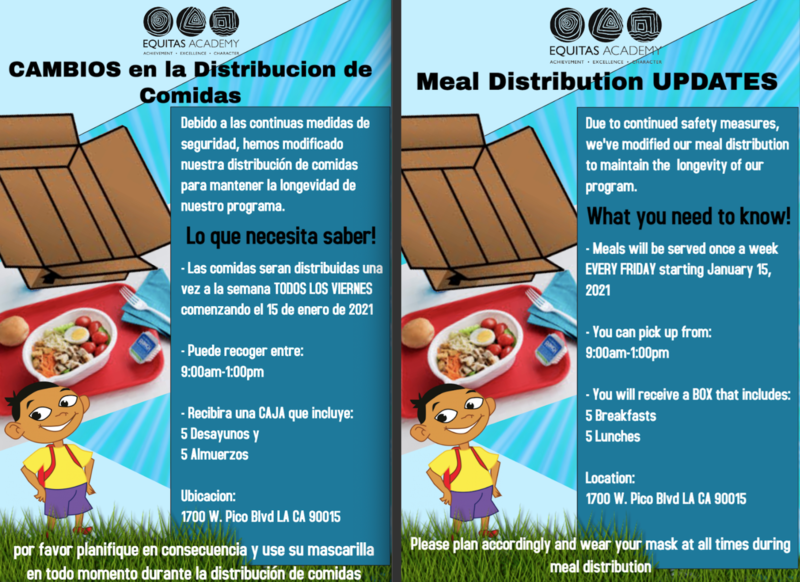 Meal Distribution Changes // Cambios a Distribución de Comida Featured Photo