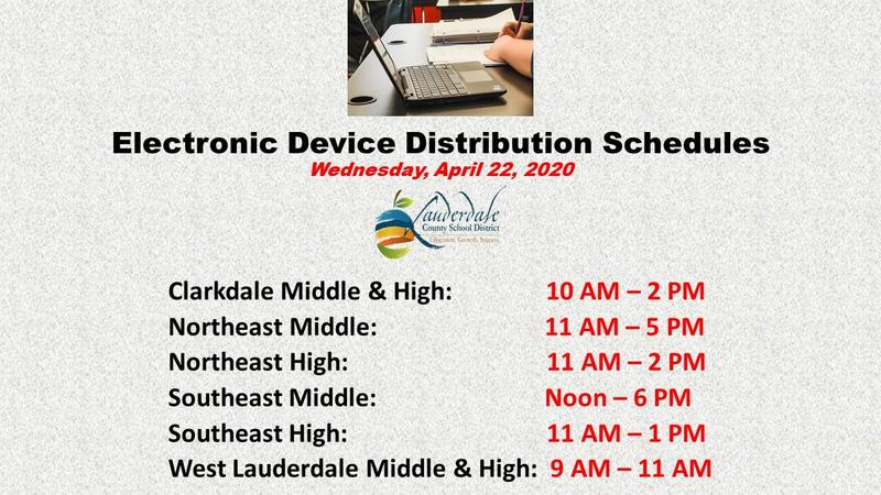 LCSD Electronic Device Distribution Schedule