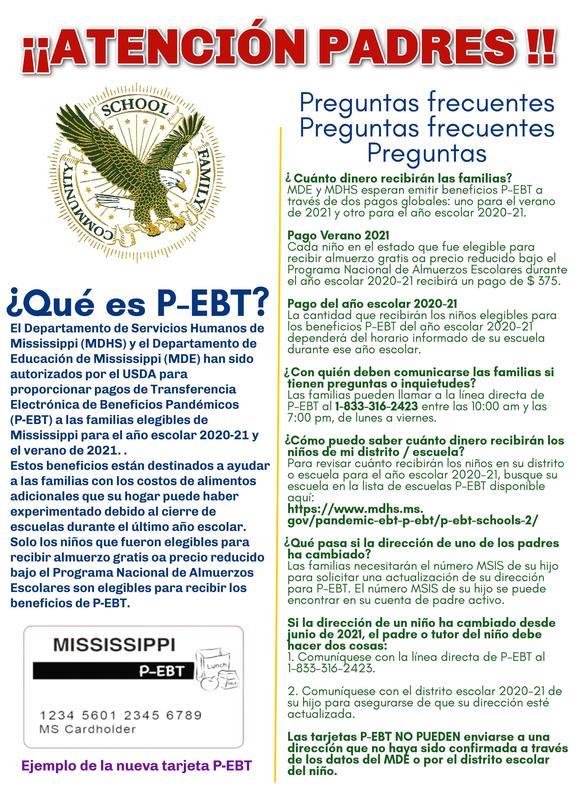P-EBT Espanol