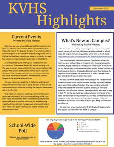 KVHS Student Newspaper