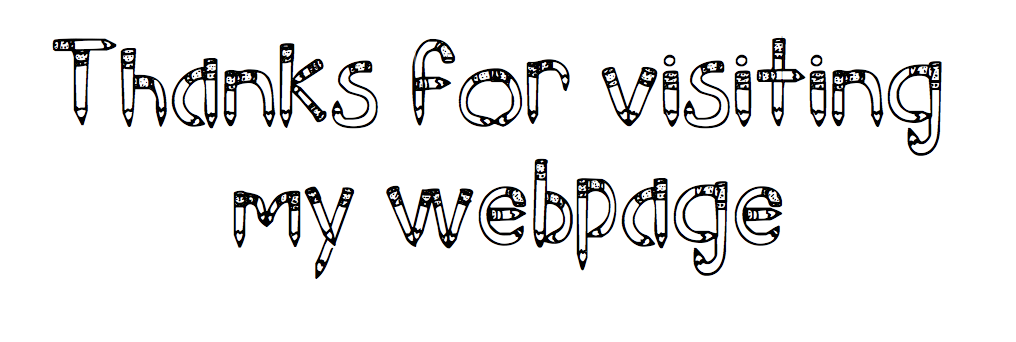 Thanks for visiting my webpage