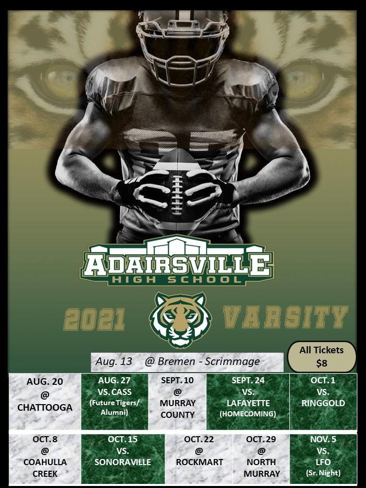 Varsity Football Schedule 2021