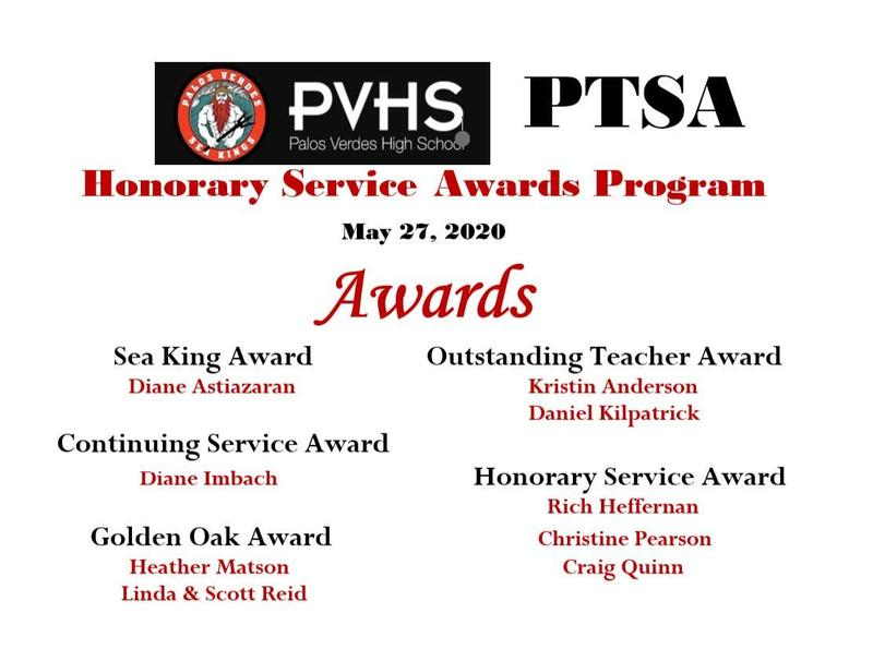 PTSA Honorary Service Awards 2020 Thumbnail Image