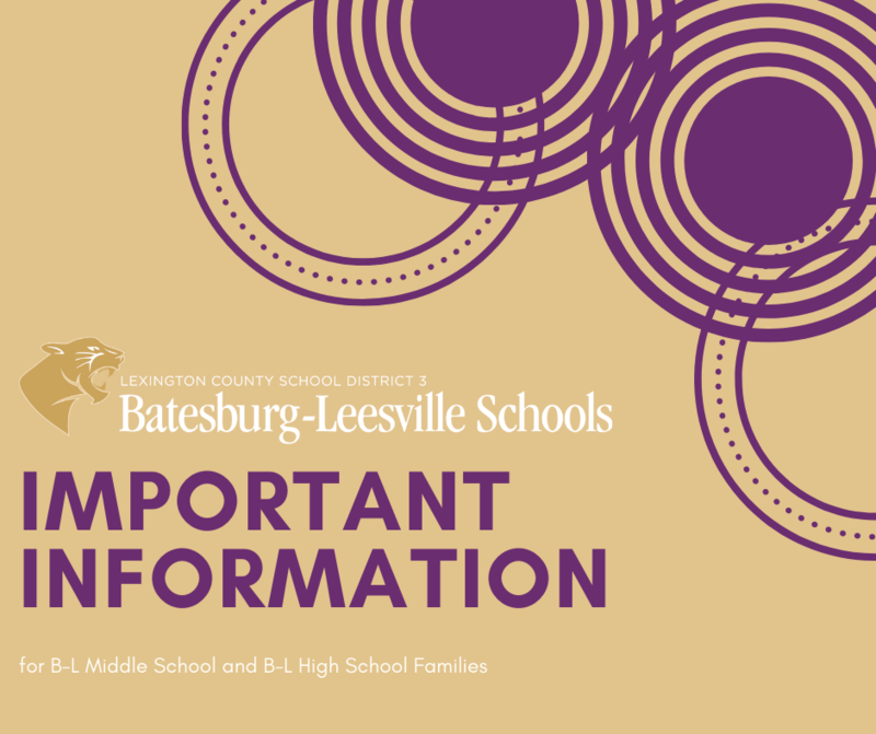 Lexington County School District Three Announces Transition Plan for Batesburg-Leesville Middle School Students