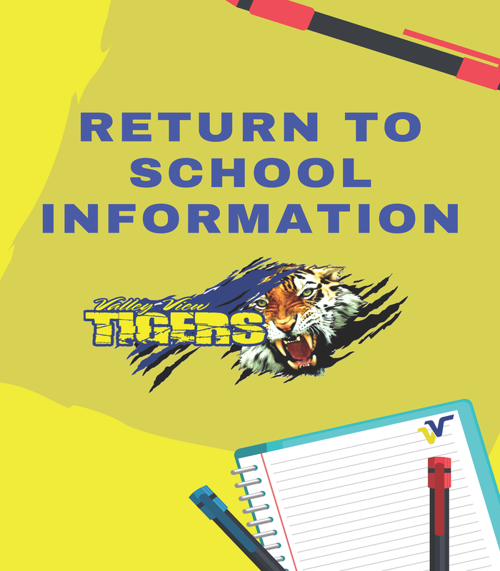 IMPORTANT RETURN TO SCHOOL INFORMATION Thumbnail Image