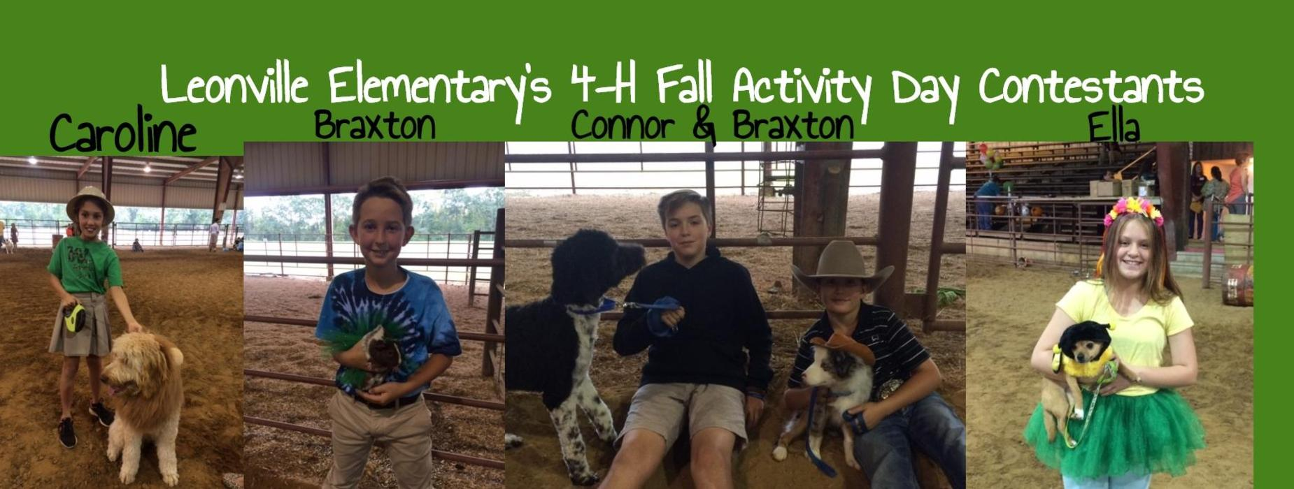 Leonville Elementary's 4-H Fall Activity Day Contestants