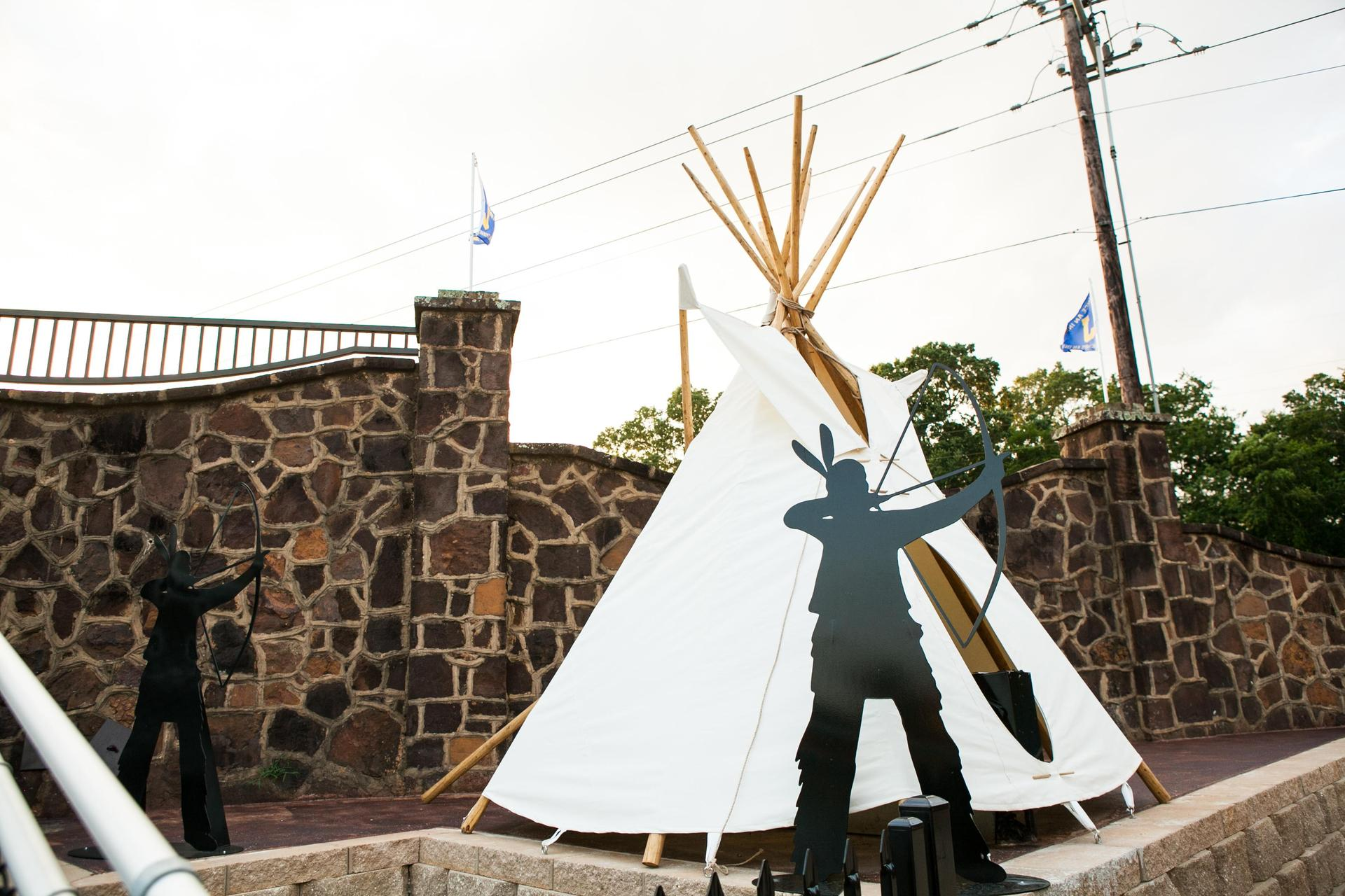 teepee with metal indian