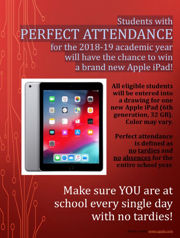CHS Perfect Attendance iPad Giveaway Featured Photo